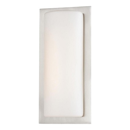 Minka George Kovacs Brushed Aluminum 1 Light 12in. Height ADA Compliant LED Flush Mount Wall Sconce