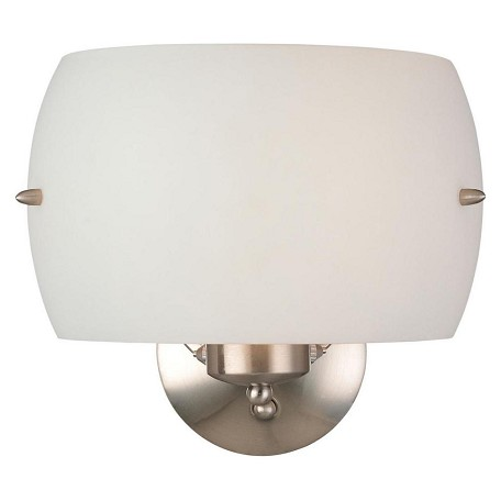 Minka George Kovacs Brushed Nickel 2 Light 9.75in. Height Wall Sconce