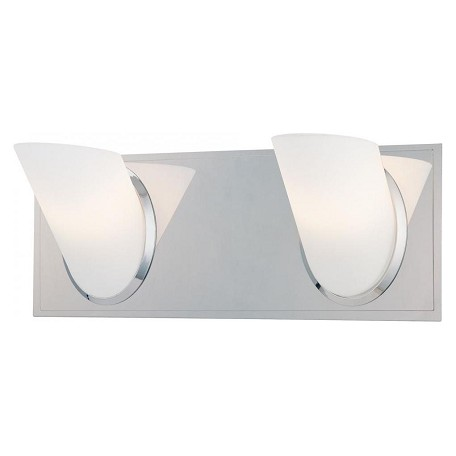Minka George Kovacs Chrome 2 Light 13.5in. Bathroom Vanity Light from the Angle Collection