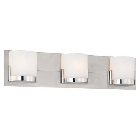 Minka George Kovacs Chrome 3 Light 21in. ADA Bathroom Vanity Light from the Convex Collection