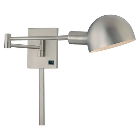 Minka George Kovacs Matte Brushed Nickel 1 Light Plug In Wall Sconce From The P3 Collection