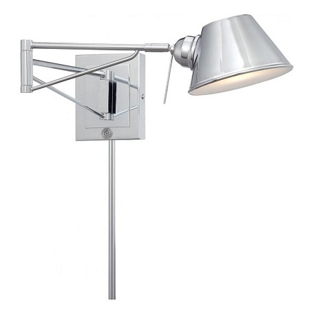 Minka George Kovacs Chrome 1 Light Height Plug In Wall Sconce Chrome