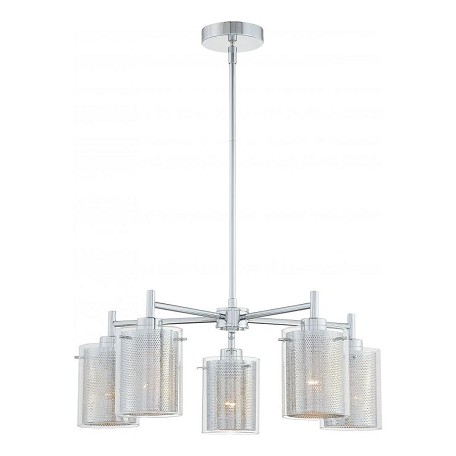 Minka George Kovacs Chrome 5 Light 1 Tier Chandelier from the Grid II Collection