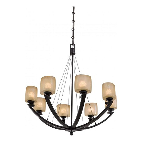 Minka-Lavery Iron Oxide 8 Light 1 Tier Suspension Chandelier From The Radius Collection