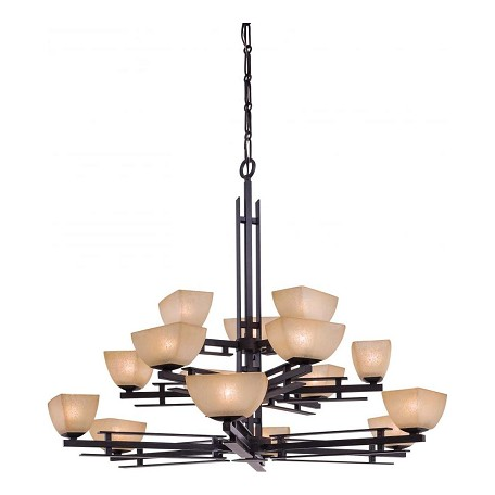 Minka-Lavery Iron Oxide 15 Light 3 Tier Chandelier From The Linear Collection