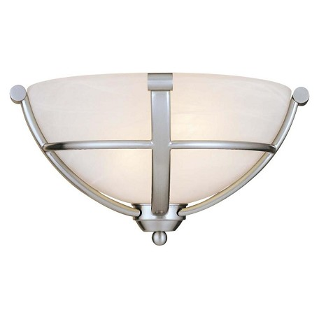 Minka-Lavery Brushed Nickel 2 Light Wall Washer Wall Sconce From The Paradox Collection