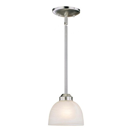 Minka-Lavery Brushed Nickel 1 Light Indoor Mini Pendant From The Paradox Collection