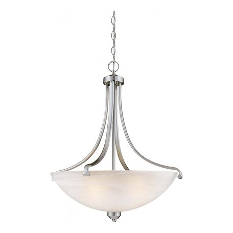 Minka-Lavery Brushed Nickel 4 Light Indoor Bowl Shaped Pendant From The Paradox Collection
