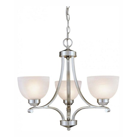 Minka-Lavery Brushed Nickel 3 Light 1 Tier Mini Chandelier From The Paradox Collection