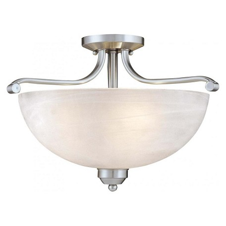 Minka-Lavery 3 Light Semi Flush Mount With Brushed Nickel Finish