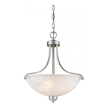 Minka-Lavery Brushed Nickel 3 Light Indoor Bowl Shaped Pendant From The Paradox Collection