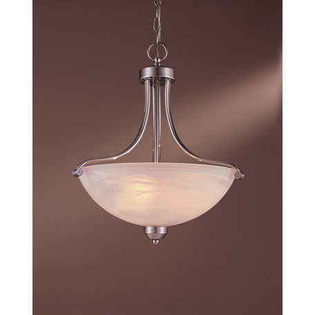 Minka-Lavery 3 Light Energy Star Pendant With Nickel Finish