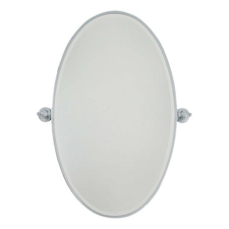 Minka-Lavery Chrome Extra Large Oval Pivoting Bathroom Mirror