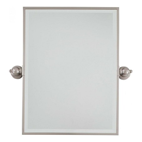 Minka lavery brushed nickel standard rectangle pivoting bathroom mirror brushed nickel 1440 84 for Bathroom mirrors brushed nickel