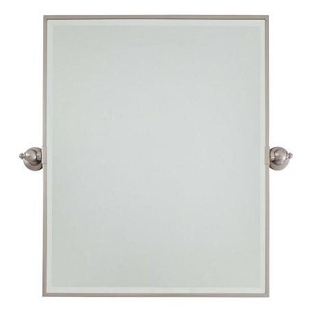 Minka Lavery Brushed Nickel Extra Large Rectangle Mirror