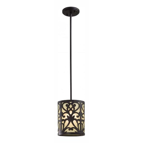 Minka-Lavery Iron Oxide 1 Light Indoor Mini Pendant From The Nanti Collection