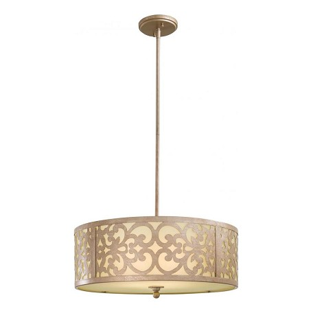 Minka-Lavery Nanti Champagne Silver 3 Light Indoor Drum Pendant From The Nanti Collection