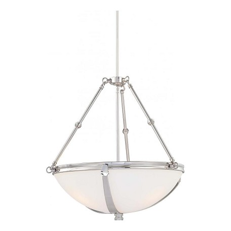 Minka-Lavery Three Light Nickel Up Pendant