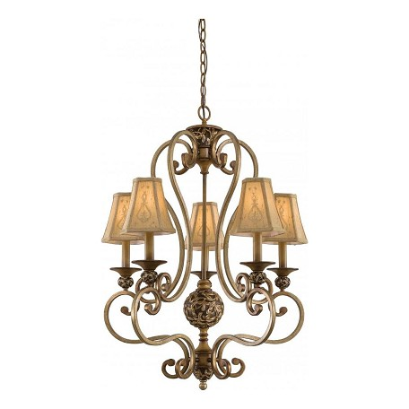 Minka-Lavery 5 Light Grand Chandelier With Florence Patina Finish