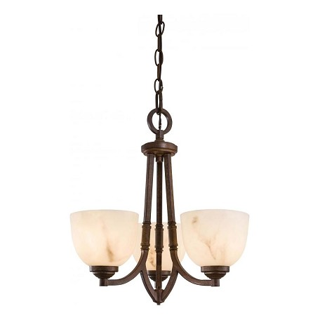 Minka-Lavery Nutmeg 3 Light 1 Tier Energy Star Mini Chandelier From The Calavera Collection