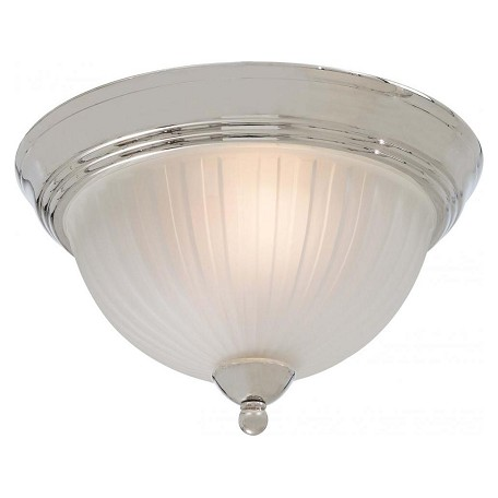 Minka-Lavery Polished Nickel 2 Light Flush Mount Ceiling Fixture From The 1730 Collection