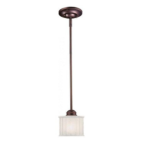 Minka-Lavery Lathan Bronze 1 Light Indoor Drum Pendant From The 1730 Collection