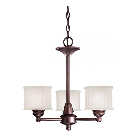 Minka-Lavery Lathan Bronze 3 Light 1 Tier Mini Chandelier From The 1730 Series Collection