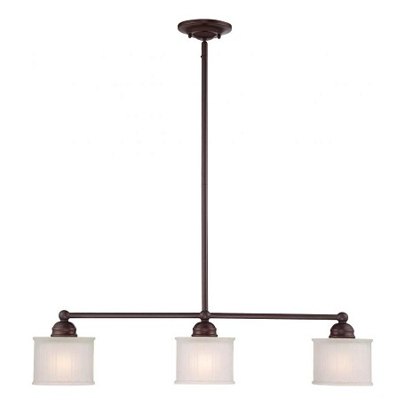 Minka-Lavery Lathan Bronze 3 Light 1 Tier Linear Chandelier From The 1730 Series Collection