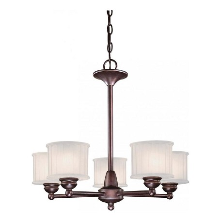 Minka-Lavery Lathan Bronze 5 Light 1 Tier Mini Chandelier From The 1730 Series Collection
