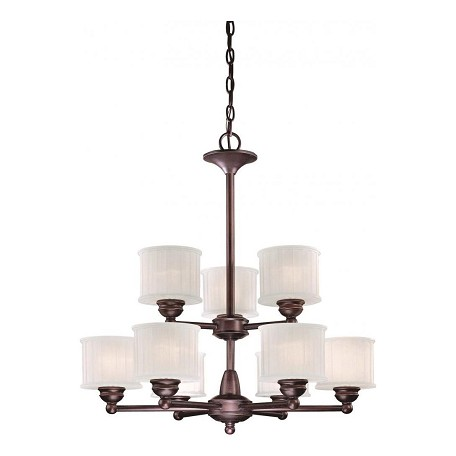 Minka-Lavery Lathan Bronze 9 Light 2 Tier Chandelier From The 1730 Series Collection