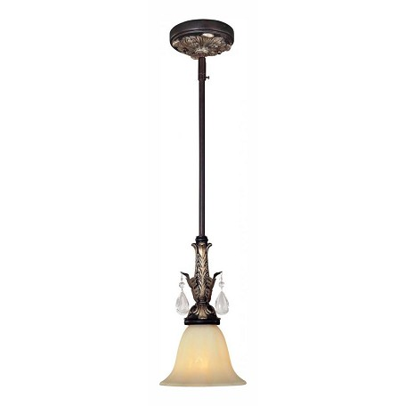 Minka-Lavery Castlewood Walnut 1 Light Indoor Mini Pendant From The Bellasera Collection