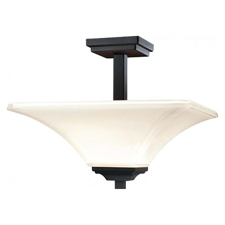 Minka-Lavery Black 2 Light Semi-Flush Ceiling Fixture From The Agilis Collection