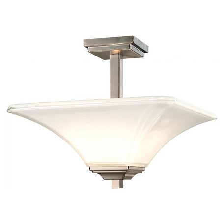 Minka-Lavery Brushed Nickel 2 Light Semi-Flush Ceiling Fixture From The Agilis Collection