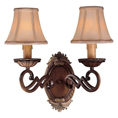 Minka-Lavery Belcaro Walnut 2 Light Candle-Style Wall Sconce From The Belcaro Collection