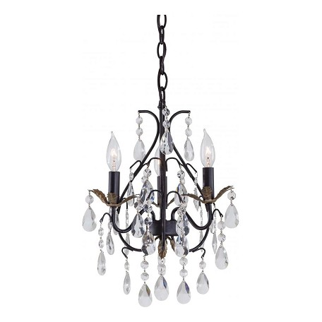 Minka-Lavery 3 Light Castlewood Walnut Mini Chandelier