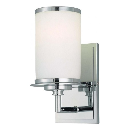 Minka-Lavery Chrome 1 Light 9.75In. Height Energy Star Bathroom Sconce