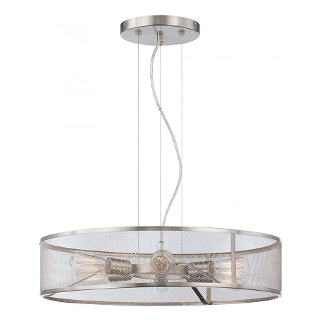 Minka-Lavery Brushed Nickel 6 Light Indoor Drum Pendant From The Downtown Edison Collection