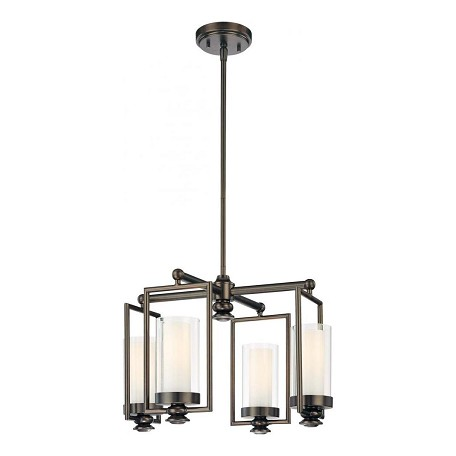 Minka-Lavery 4 Light Harvard Court Chandelier In Bronze Finish