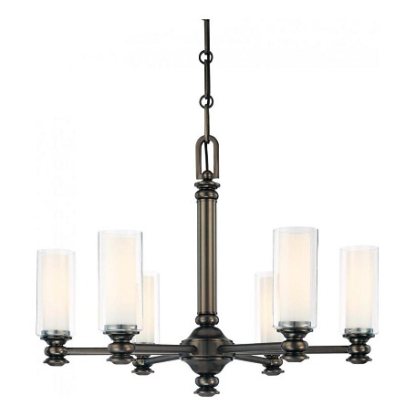 Minka-Lavery Harvard Ct. Bronze 6 Light 1 Tier Chandelier From The Harvard Ct. Collection