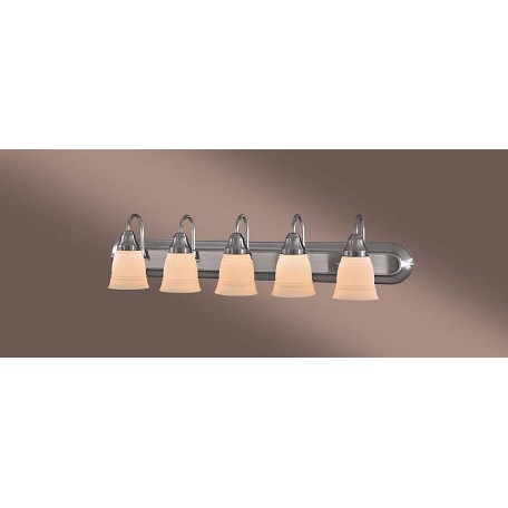Minka-Lavery Brushed Nickel 5 Light Bathroom Vanity Light From The Auburn Collection