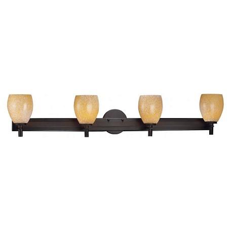 Brass Finish Vanity Lights : Minka-Lavery 4 Light Bath Vanity With Bronze Finish Bronze 5114-617