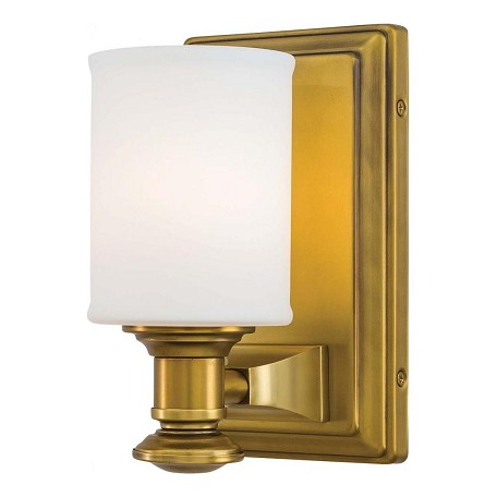 Minka-Lavery Liberty Gold 1 Light Bathroom Sconce From The Harbour Point Collection Liberty Gold ...