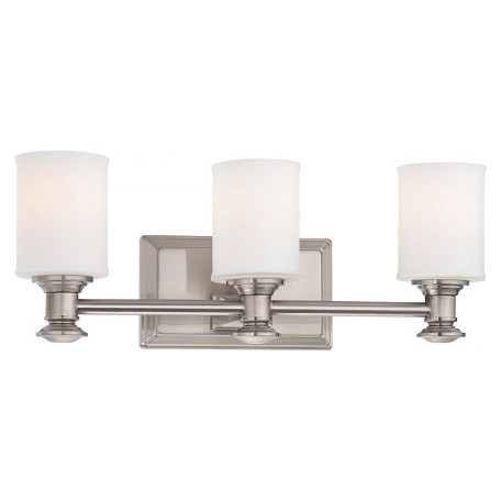 Minka-Lavery Brushed Nickel 3 Light Bathroom Vanity Light From The Harbour Point Collection