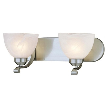 Minka-Lavery 2 Light Bath Wall Light With Brushed Nickel Finish