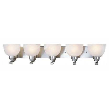 Minka-Lavery Brushed Nickel 5 Light Bathroom Vanity Light From The Paradox Collection