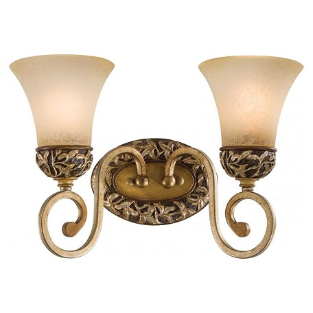 Minka-Lavery Florence Patina 2 Light Bathroom Vanity Light From The Salon Grand Collection
