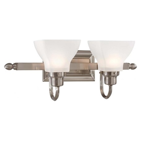 Minka-Lavery Brushed Nickel 2 Light 19.5In. Width Bathroom Vanity Light
