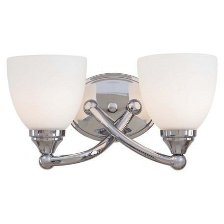 Minka-Lavery Chrome 2 Light Bathroom Vanity Light From The Taylor Collection