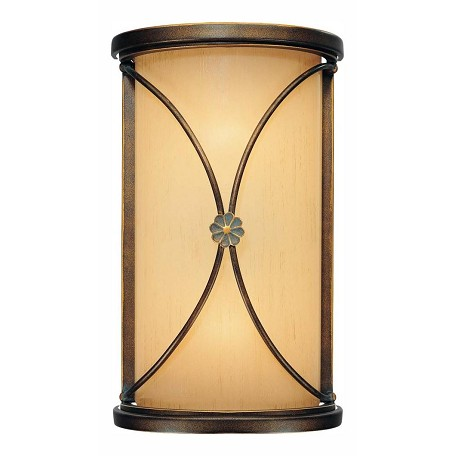 Minka-Lavery Deep Flax Bronze 2 Light Ada Wall Sconce From The Atterbury Collection
