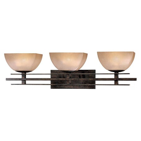 Minka-Lavery Iron Oxide 3 Light Bathroom Vanity Light From The Linear Collection